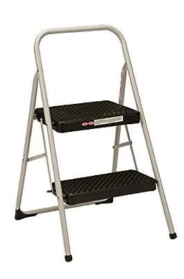 Cosco 2-Step Household Folding Step Stool, Gray