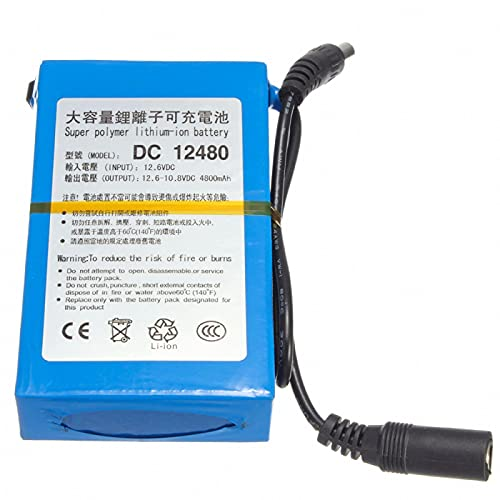 CNMMGL Batería De Litio De Dc-12480 12v 4800mah, Batería Recargable para El Control Remoto del Banco del Poder