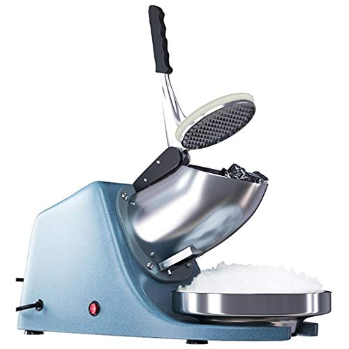 Zryh Máquina de Afeitar eléctrica de Hielo, máquina de Hielo trituradora de Afeitar máquina de trituradora de Hielo de Acero Inoxidable con Doble Cuchilla de Acero Inoxidable Industrial co