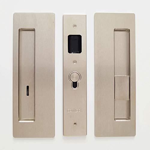 Cavilock CL400B0328 Cavilock CL400B-PR-38-RH Magnetic Privacy Pocket Door Pull Set with RH Snib/LH Emergency for 1-3/8 Inch Thick Doors