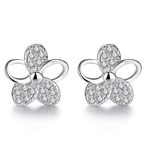 Wiftly Women's Elegant Earrings, Flower Zircon Earrings, Fashion Jewellery Gifts for Christmas, Birthday, Hypoallergenic