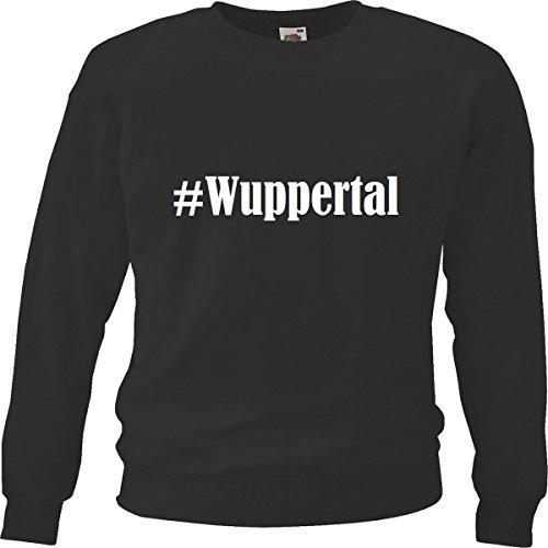 Reifen-Markt Sweatshirt #Wuppertal Größe S Farbe Schwarz Druck Weiss