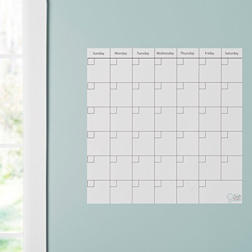 Think Board Stickup White Keuken Whiteboard - Wand en Koelkast Kalender - 600x600mm - Wekelijks/maandelijkse Food Meal Family Planner