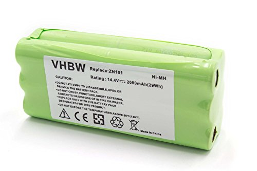 vhbw NiMH Akku 2000mAh (14.4V) für Saugroboter Home Cleaner Dirt Devil Fusion M611, Libero, M606, M606-1, M606-2, M606-3, M606-4, M607, M607 Spider