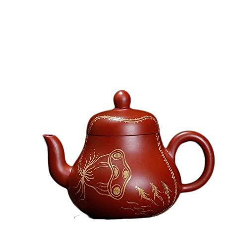 BINGFANG-W Kaffee Wang Dahongpao Erz birnenförmige Goldschatz zeigt Kung-Fu Teezeremonie Handbuch Trompete Tee-Sets
