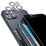 SAEYON [4 Piezas] 2 Anti-Espía Privacidad Protector de Pantalla & 2 Protector Lente de Cristal Compatible Apple iPhone...