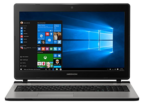 MEDION AKOYA MD 60330 39,6 cm (15,6 Zoll HD) Notebook (Intel Core i5-7200U, 8GB RAM, 256GB SSD, Intel HD, DVD-Brenner, Windows 10 Home) silber