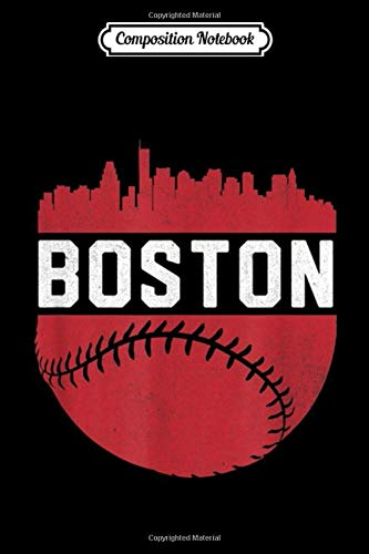 Composition Notebook: Vintage Downtown Boston Mass Skyline Baseball Journal/Notebook Blank Lined Ruled 6x9 100 Pages