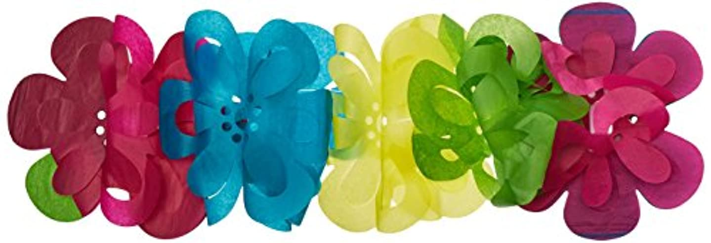 Beistle 55159 Flower Garland, 7 by 12-Feet