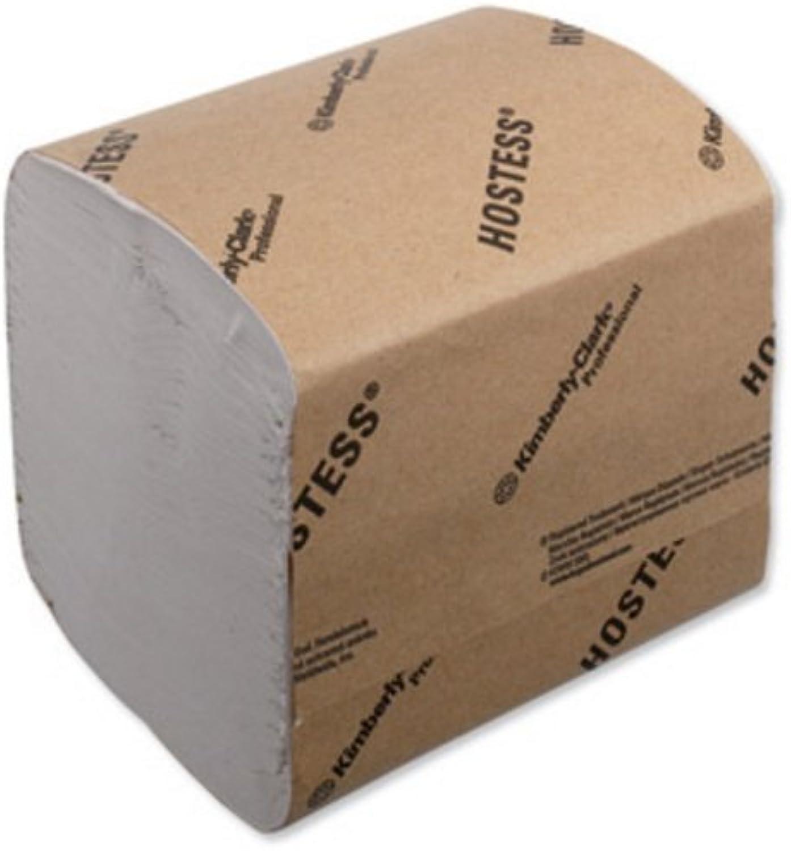 Hostess Toilet Tissue Bulk recyceltem biologisch abbaubar Tabelle 186 x 114 mm 520 Blatt Ref 4471 [36 Ärmel] B002P8SNUY  | Leicht zu reinigende Oberfläche