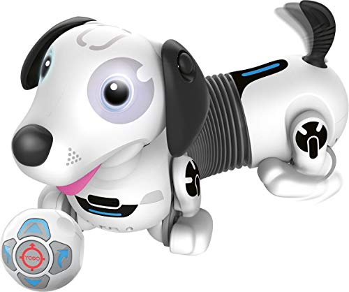 Ycoo Silverlit-Robo Dackel 2-Cane Robot radiocomandato o autonomo 35 cm, può Correre Dietro Il Suo balle-Giocattolo con Effetti sonori e Luminosi 88586