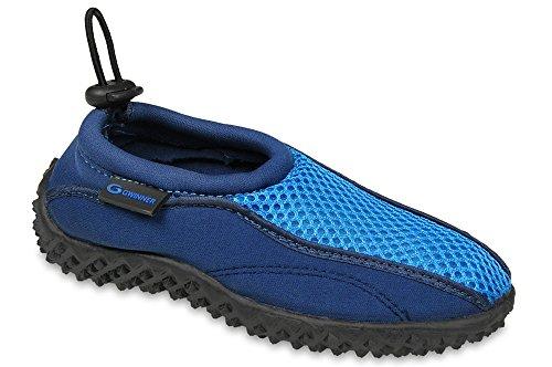 Gwinner los niños Calzan los Zapatos de Surf Agua Aqua Zapatos, Navy/Azul, 29