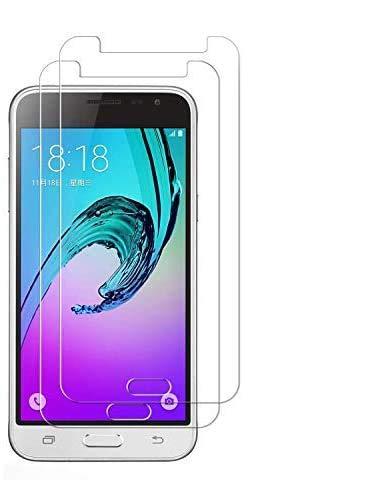 OUJD Protector Pantalla para Samsung Galaxy J3 2016 ( Paquete de 2 ) - Samsung Galaxy J310, Cristal Vidrio Templado Premium