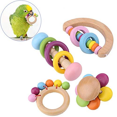 Papegaaienspeelgoed, kauwende houten speelset voor huisdieren