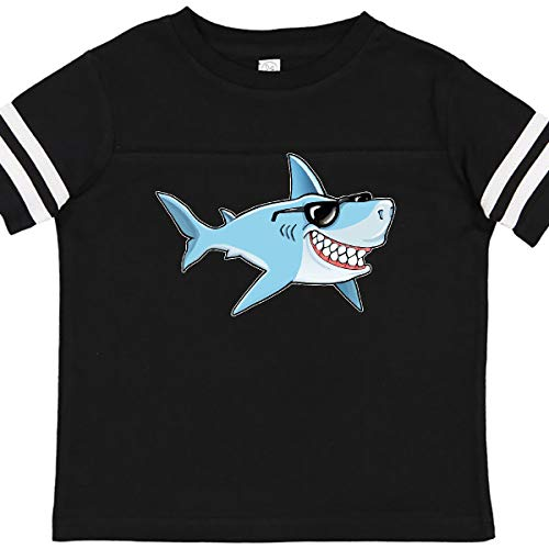 inktastic Suave Shark with Toddler T-Shirt 2T Football Black and White 363cf