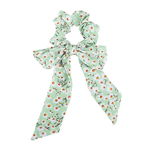 OULN1Y Bandeaux Chiffon Bow Long Hair Scrunchies Bow Women Hair Accessories Rubber Hair Rope Ponytail Holder Bows,16
