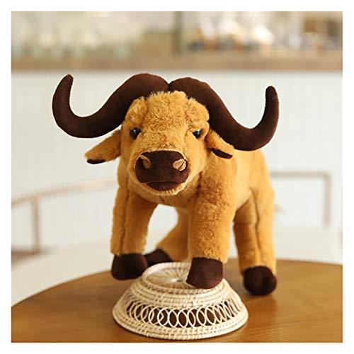 JSJJRFV Blumentöpfe 3D Simulation Alter skalper büffel plüschtiere gefüllte Tiere juguetes Dekoration Dekoration Dekoration Sofa Kissen Urlaub Geschenke (Color : 2, Height : 35cm)