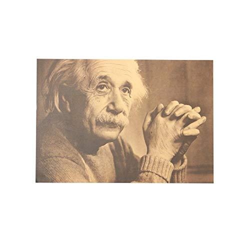 Mytao L'Imagination Est Plus Importante Que La Connaissance Albert Einstein Rétro Affiche Kraft Papier Décoratif Stickers Muraux 51X36 Cm
