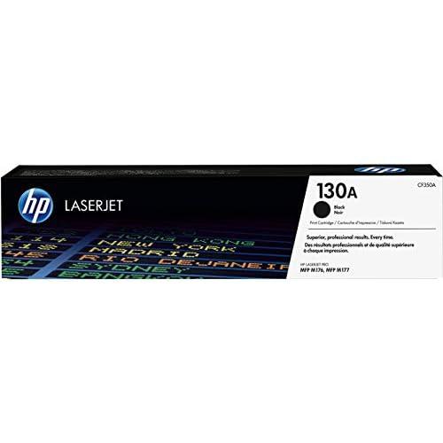 HP 130A CF350A Cartuccia Toner Originale per Stampanti, Compatibile con LaserJet Pro, HP LaserJet Pro M274N, M277N e M277DW, Nero