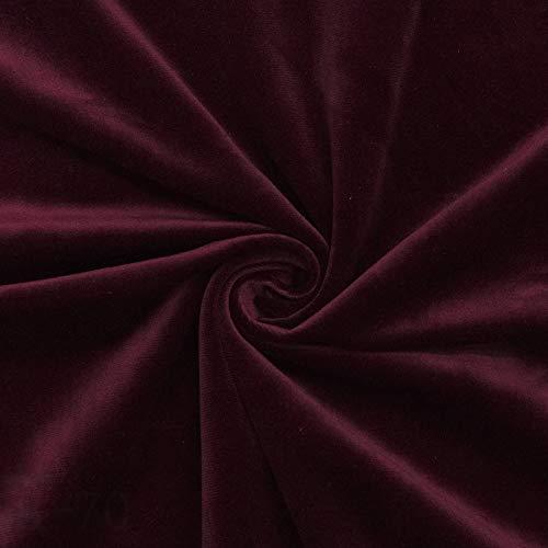 ZSYGFS 280 Cm De Ancho Tela De Terciopelo Suave Espesar para Coser De Chaquetas Decoración Decoración del Hogar Cortinas Tapicería Vestido Sillas Ropa Vendido por Metro(Color:carmesí)
