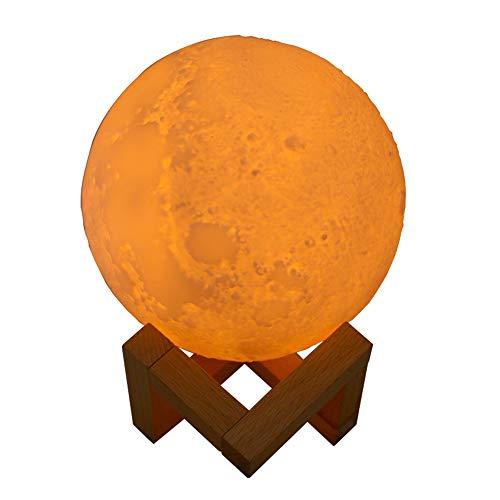 Lixada 3D Humidificador de Lámpara de Luna Difusor de Luz Nocturna LED Humidificador USB 880ML Aroma Aceite Esencial