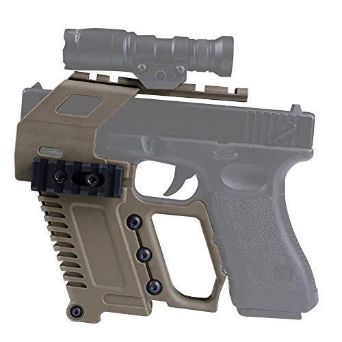 XBF-Armas de Aire comprimido, Pistola táctica Carabina Glock Kit de riel de la Base de Recarga rápida Cargando 17 18 19 23 Airsoft Alcance Caza Accesorios Arma de la Caja del Dispositivo