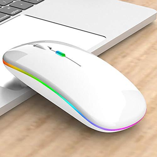 iBoosila Ratón inalámbrico para gaming, hasta 1600 ppp, 4 botones, 7 colores intercambiables, ergonómico macro MMO-RPG para ordenador, portátil, consola de juegos