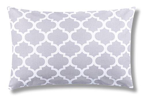 Amilian® Dekokissen Kissenbezug Kissen 40cm x 60cm Indien Grau