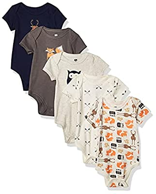 Hudson Baby Unisex Cotton Bodysuits, Forest, 3-6 Months from Hudson Baby