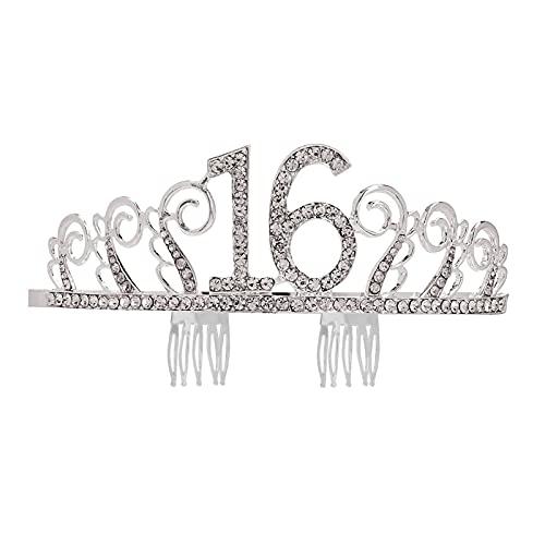 HAWFHH Coronas para Mujeres Crown Y Tiaras, Pelo Aro, Tocados, para La Boda Paseo Nupcial Fiesta Víspera De Todos Los Santos Navidad Regalos