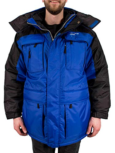 Freeze Defense Warm Mens 3in1 Winter Jacket Coat Parka & Vest (Small, Blue)