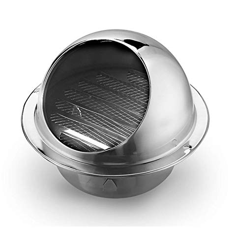 Arch Vent Cover, Stainless Steel Round Soffit Vents Wall Louver Grilles Cover Air Vents with Built-in Screen Mesh (4