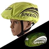 Mnsun Funda para casco de bicicleta, impermeable, unisex, con tiras reflectantes, segura y de alta visibilidad