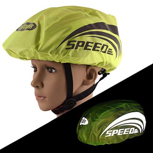Campre fietshelmafdekking met reflecterende strepen, veilig en goed zichtbare waterdichte regenhoes voor fietshelm