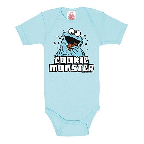 Barrio Sésamo Monstruo de las galletas Body Bebé en calidad de marca luz azul algodón, Infantil, azul, 98-104 cm