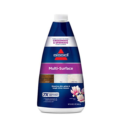 Bissell 1789 CrossWave & SpinWave Multi-Surface Cleaning Formula, 32 oz - Pack of 4