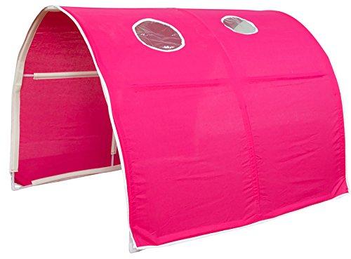 PEGANE Tunnel de lit Enfant en Plastique, Coloris Rose - Dim : 90 x 70 x 100 cm