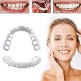 HHTT Denti Finti Denti Cosmetici impiallacciatura Sorriso istantanei Sbiancamento Dentiera Comfort Fit Flex Protesi Dentale Perfetta Sorriso