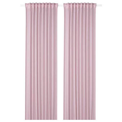 Ikea Gunrid Air Purifying Curtain 1 Pair Light Pink 57x98 404.592.18