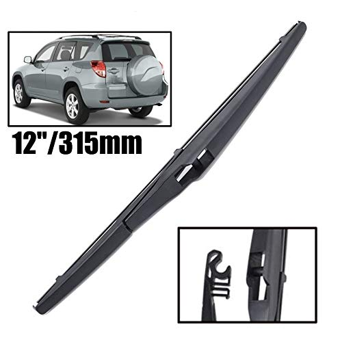 Yubingqin Limpiaparabrisas 12'Blade de limpiaparabrisas Trasera para Toyota RAV-4 XA20 XA30 2000-2012 Windshield Windscreen Window