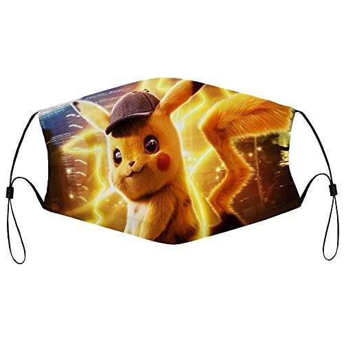 KINGAM Pikachu - Muffs para bocas de Pokémon a prueba de polvo para...