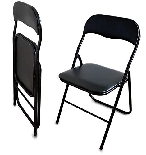 Klappstuhl Klappstühle Kunstleder - schwarz - 2X 4X 8X Stühle Stuhl (2)