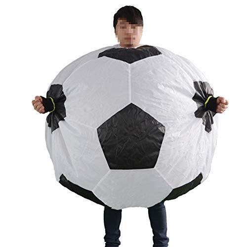 LTSWEET Disfraz Ftbol Inflable Adulto Traje Inflatable Aficionado al Ftbol Fiesta Individual Halloween Carnival Cosplay Fancy Dress Inflatable Costume