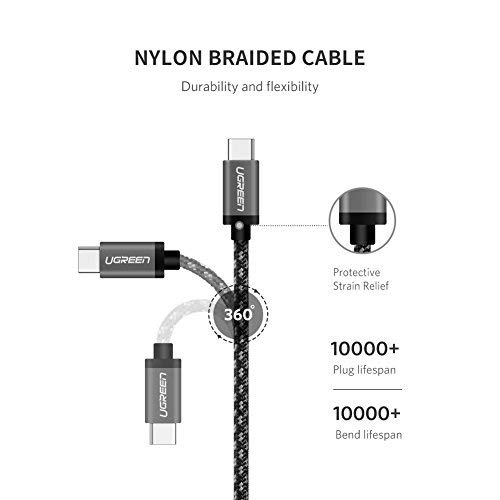 UGREEN USB C to USB C Cable USB 3.1 Gen 1 Type C PD Fast Charging 5Gbps Compatible with Samsung Note 10 9 S20 S10 S9 MacBook Pro Air 13