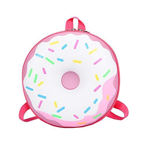 ACIL Lovely Donut Rainbow Backpack School student Book Bag Casual Bagpack Vintage Cute Bags,Pink