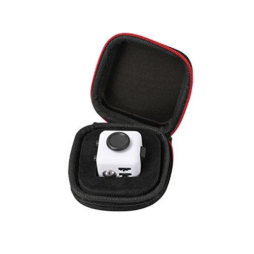 Fidget Cube mit Hülle Schreibtisch-Spielzeug Klicker Joystick-Tasten zum Stressabbau, bei Angst, zum Konzentrieren ADHD Autismus Erwachsene Kinder Studenten Büro Geschenk, 2?Black White