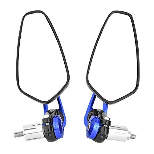 """Espejo para retrovisor motocicleta CNC Retrovisores Moto ajuste universal para la mayoría de las motocicletas con barra de 7/8""""(22 mm)(azul)"""