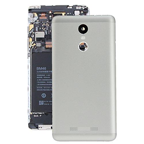 Tangyongjiao Accesorios para Celular Reemplazo de la Cubierta Posterior de la batería for Xiaomi Redmi Note 3 (Color : Silver)