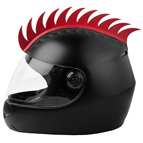 Autofy Helmet Accessory Cuttable Rubber Mohawk/Spikes for All Motorcycles Dirt Bike and...