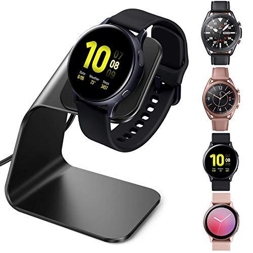 CAVN Caricatore Compatibile con Samsung Galaxy Watch Active 2 40 mm 44 mm/Galaxy Watch 3 45 mm 41mm/Active 1 Caricabatterie Induttiva, (150 cm/4,9 Piedi) Cavo di Ricarica in Alluminio USB Sostitutivo